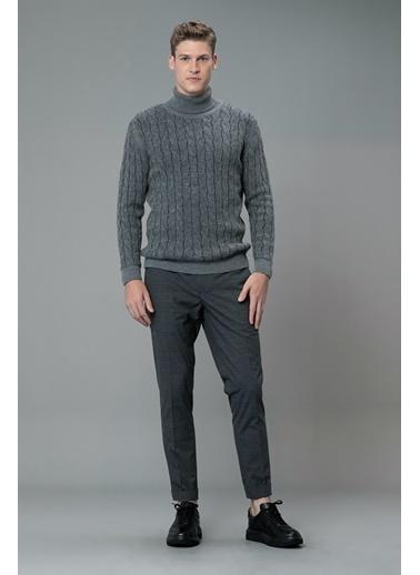 Lufian Tailored Fit Baron Smart Chino Pantolon Gri